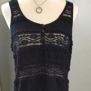Dark Navy blue sleeveless dressy tank, H&M!